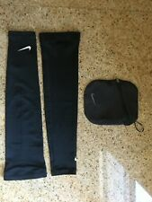 Nike Black Golf Arm Sleeves with Pouch
