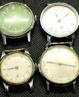 Set 4 ZIM WATCH COLLECTION Ussr Pobeda Rare Vintage Soviet Russian Wristwatch