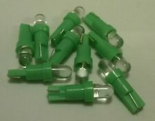 10x Green LED Dash Board Wedge Instrument Panel Light Bulb T5 70 73 74 Fits GMC
