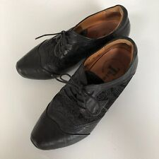 THINK! shoes. Black leather. Paisley. Made in Italy. Size 36
