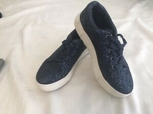Sparkly Blue Ladies Trainers, Size 5