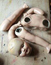 Vintage Muñeca De Composición. para Reparar. todas las piezas están intacto separada.