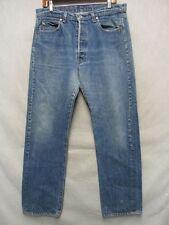 D2634 Levi's 501 USA Made Killer Fade Black Stitch Jeans Men 34x31