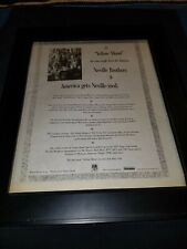 Neville Brothers Yellow Moon Rare Original Radio Promo Poster Ad Framed!