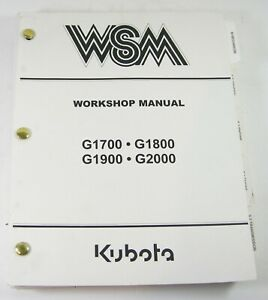 Kubota G1700 G1800 G1900 G2000 Service Repair Manual Riding Mower Workshop OEM