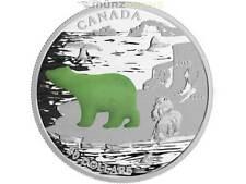 $20 Dollar Canadian Icons Polar Bear Jade Insert 1 oz fine silver Canada 2015