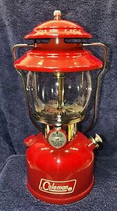 Red Coleman Single Mantle Lantern Model 200A dated 8/71 Aug 1971 - Restored!
