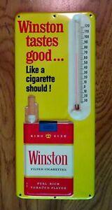 Excellent Original Winston Cigarettes Metal Thermometer