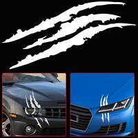 Universal White Car Headlight Scratch Stripe Decal Sticker Claw Stripe Slash