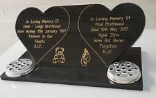 Red, Blue, Grey, White or Black Engraved Headstone, Memorial  Plaque