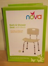 Nova Bath and Shower Seat With Back in Retail Box Item 9101-R Easy Assembly