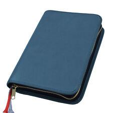 Großdruck Gotteslob Hülle Gotteslobhülle Leder blau dunkelblau für Gebetbuch