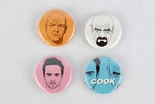 Breaking Bad badges! - faces set - Walter White Jesse Pinkman Hank Schrader