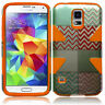 For Samsung Galaxy S5 IMPACT TUFF HYBRID Case Phone Covers + Screen Protector