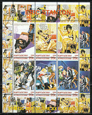 Souvenir sheet of 6 MNH stamps Erotic Art of the XXth Century by Eric Stanton