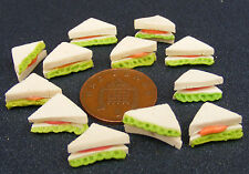 1:12 Scale 12 Loose Sandwiches Tumdee Dolls House Kitchen Bread Snack Accessory