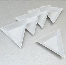 4 x 7.5cm x 7.5cm Triangle plastic storage dish-rhinestones/jewellery/beads