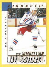 ULF SAMUELSSON 1997-98 Pinnacle Be a Player BAP AUTOGRAPH New York Rangers Auto