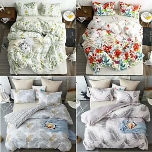 Luxury Flower Style Bedding Sets 3 Pieces Duvet Cover 2 Pillowcases Comfort Warm