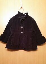 Gap Kids Girls Jacket Coat Size XSmall 4/5 Black Button Front Cotton