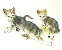 Andrea Sadek Vintage Set Of 3  Playful Kittens-Cats Figurines , Made In Japan