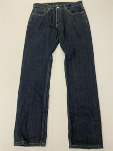 Levi's 32 x 34 559 Relaxed Straight Super Dark Rinse 100% Cotton Denim Jeans