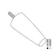 "2x Ikea Sofa Legs M8 For STRANDMON Chair, 6""  Wood Cylinder Black Part # 131290"