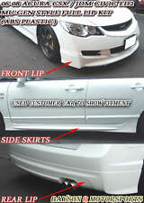 Mu-gen Style Full Lip Kit Fits 06-08 CSX (JDM Civic) 4dr