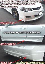 Mu-gen Style Full Lip Kit Fits 06-08 CSX (JDM Civic) 4dr