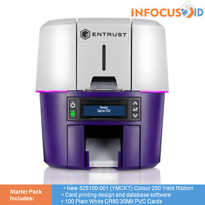 Brand New Entrust Sigma DS2 Duplex Direct To Card ID Badge Printer