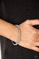 Paparazzi Jewelry Bracelet ~Decked Out In Diamonds Black~NWT - 1504
