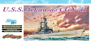 Dragon Plastic Model Kits #7124 1/700 U.S.S. Arkansas CGN-41