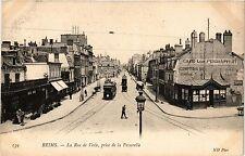 CPA Reims-La Rue de Vesle, prise de la Passerelle (346864)