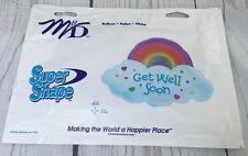 "Get Well Soon Balloon ~ Rainbow Cloud Hearts Super Shape Mylar M&D 17"" X 24"" NEW"
