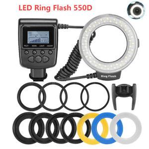 Macro LED Ring Flash Light RF 550D Speedlite for Nikon Canon Olympus Fuji Camera