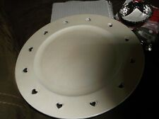 Beautiful pair of cream Heart cut out plates / Weddings  / Display pieces  New