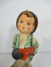 Hummel Goebel Figurine Globe Trotter Boy Walking Umbrella Basket Vtg Tmk2 #79