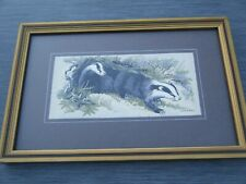 CASH'S WOVEN SILK PICTURE -  THE BADGER -