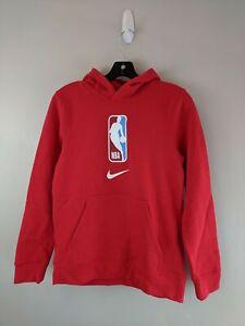 Youth Nike NBA Logo Long Sleeve Hoodie -Size L 14/16 - Red