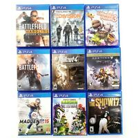 Sony PlayStation 4 Game Lot Of 9 Battlefield, Division, Fallout 4,Destiny Tested