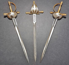 THREE MINIATURE SWORDS MADE IN SPAIN