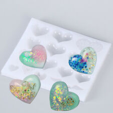 Heart Silicone Mold Making Jewelry Pendant Resin Mould DIY Tool Handmade Craft.