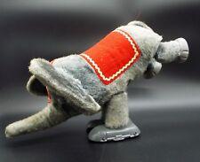 VTG Antique YM JAPAN battery op Circus Elephant TIN Plush dancing moving WORKS