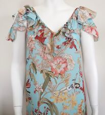 $755 I'M ISOLA MARRAS Floral Printed LONG MAXI Summer Dress IT-40 US-2/4 XS