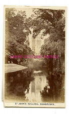 1870 ST JOHN'S COLLEGE CDV PHOTO CARTE DE VISITIE CAMBRIDGE UNIVERSITY VICTORIAN