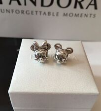 Silver PANDORA Disney Mickey and Minnie Mouse Pair Charms S925 *RRP £70