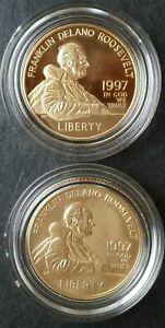 1997 F.D.R. Memorial Commemorative Five-Dollar Gold Coins Set