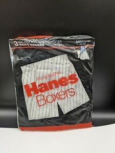 VTG Hanes M 34-36 3 Pack 1994 New Sealed Three Boxers NOS