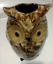 "Owl Vase Ceramic Planter Elegant Expressions By Hosley 9"" Tall"
