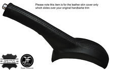 BLACK STITCHING LEATHER HANDBRAKE GAITER FITS SUZUKI ALTO 2009-2016